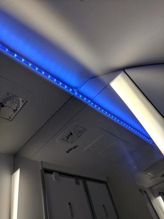 Impressive lighting for an economy bathroom